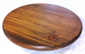Lazy Susan with Early American Stain