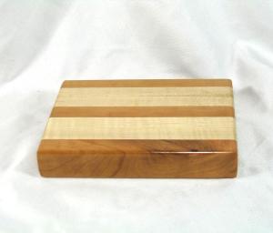 "Cutting Board: Cherry and Maple ""Mini"" 8″ x 6″ x 1.5″"