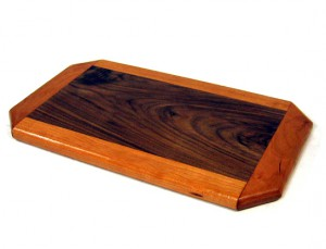 Cheese Platter: Cherry and Walnut by Furst Woodworks