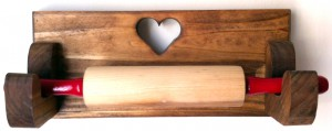 Heart Rolling Pin Holder