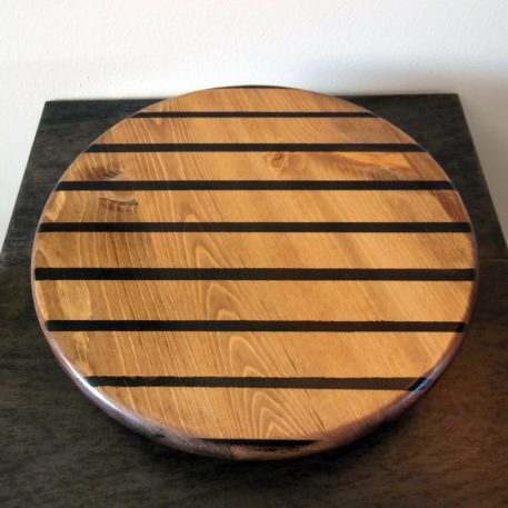 Arty lazy susan by Furst Woodworks