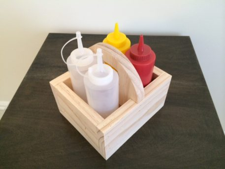 Wood Condiment Caddy Small