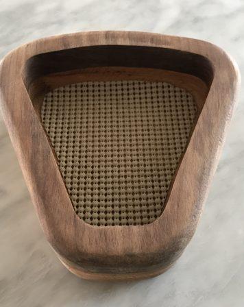 Triangle Shaped Oak & Walnut Bowl