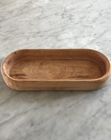 Oval Shaped Maple Bowl