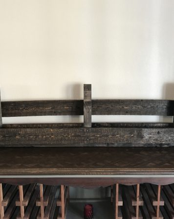 Large Dark Rustic Wine Rack